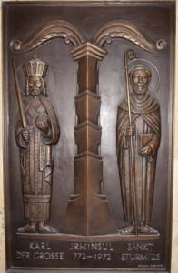 Karl d. Große, Irminsul-Heiligtum der Sachsen, hl. Sturmius, Missionar